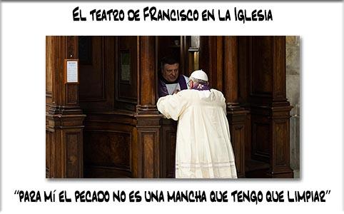 El afán de ser popular y de recibir de los hombres la palabra amable y el aplauso a sus obras heréticas en la Iglesia. Francisco es el bufón del Vaticano.
