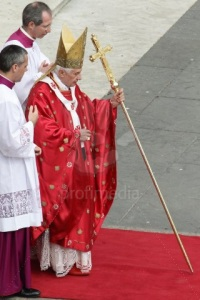 Pope Benedict XVI Leads Palm Sunday Mass