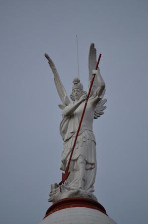San Miguel Arcángel derrotando a la bestia,  Sabana de Bogotá, Colombia.
