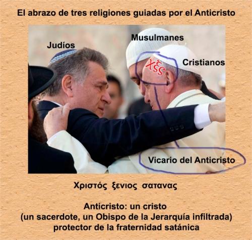 El anticristo es el Vicario del Hijo de Dios. El que usurpa tal dignidad para su condenación y la de otros en la Iglesia Católica.