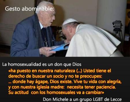 Se alaba la obra del pecado de un homosexual