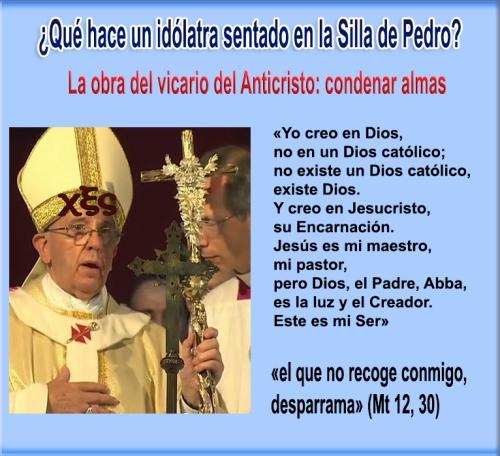 La idolatría de un hombre oscurece la Iglesia Católica